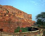 Северная Индия, Агра, стены Красного форта