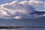 Россия, Сибирь, Красноярский край, Таймырский автономный округ, полуостров Таймыр, плато Путорана, озеро Глубокое, верхняя часть, юго-западный берег, вид на север