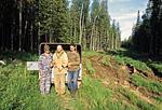Россия, Сибирь, Иркутская область, лесовозная дорога на пути к реке Катанга (Подкаменная Тунгуска).