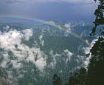 Долина реки Уруштен. Вид от метеостанции под Джугой.