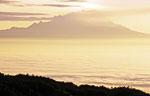 Россия, Камчатка, вулкан Ключевская сопка, северо-восточный склон, вид на вулкан Шивелуч
