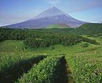 Вулкан Ключевская Сопка. Самый высокий действующий вулкан не только Камчатки, но и всей Евразии, 4750 метров над уровнем моря.