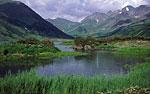 Россия, Камчатка, район вулкана Бакенинг, озеро Дальнее, южный мыс, вид на северо-восток