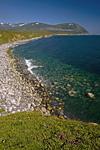 Россия, Магаданская область, полуостров Кони, берег Охотского моря, устье реки Бургаули