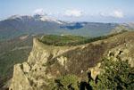 Украина, Крым, Демерджи-яйла, вид в сторону Чатыр-Дага