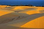 Красные дюны в закатном свете поблизости от Муйне