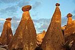 Грибообразные останцы поблизости от Чавушина на закате.