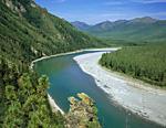 Россия, граница Якутии и Магаданской области, река Омулёвка, южные отроги хребта Арга-Тас.