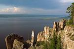 Россия, республика Саха (Якутия), река Лена, среднее течение, Ленские столбы, устье реки Лабыдя.