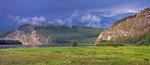 """Россия, Иркутская область, Киренский район, река Лена, в 30 километрах выше урочища """"Щёки"""", остров Каменный"""
